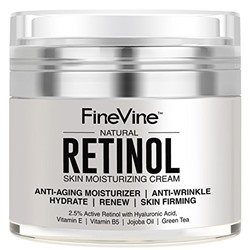 Retinol Moisturizer Cream for Face and Eye Area - Made in USA - with Hyaluronic Acid, Vitamin E - Best Day and Night Anti Aging Formula to Reduce Wrinkles, Fine Lines & Even Skin Tone