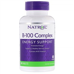 Natrol, B-100 Complex, 100 таблеток (Discontinued Item)