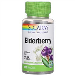 Solaray, Elderberry, 450 mg, 100 VegCaps