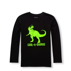 Boys Daddy And Me Long Sleeve 'Cool-A-Saurus' Matching Graphic Tee