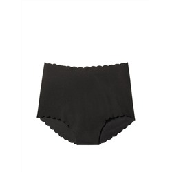 NEW! No Show High-waist Scalloped Brief Panty