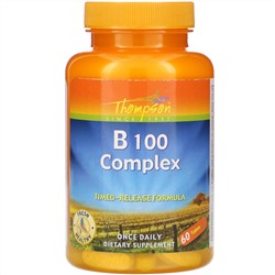 Thompson, B 100 Complex, 60 Tablets