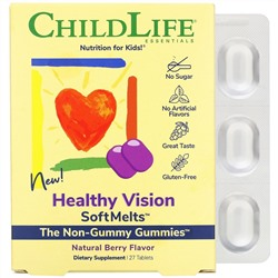 ChildLife, Healthy Vision SoftMelts, Natural Berry Flavor, 27 Tablets