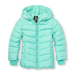 Girls PLACE Sport Long Sleeve Insulated Hooded Jacket