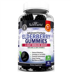 BioSchwartz, Advanced Formula Elderberry Gummies, 60 Gummies