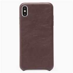 "Чехол-накладка Leather для ""Apple iPhone XS Max"" (brown)"