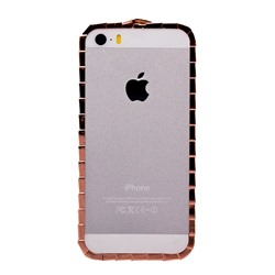 "Чехол-бампер SunArt для ""Apple iPhone 5/5S/SE"" (rose gold) (04) инкруст.стразами"