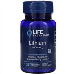 Life Extension, Lithium, 1,000 mcg, 100 Vegetarian Capsules